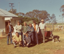 Dad with some of his Ag students doing hands on work. My grandfather is in the back row