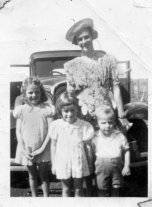 My dad with his mum and sisters