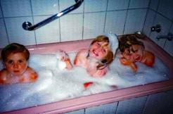 bathtime was a family affair